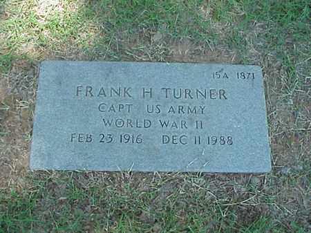 TURNER (VETERAN WWII), FRANK H - Pulaski County, Arkansas | FRANK H TURNER (VETERAN WWII) - Arkansas Gravestone Photos