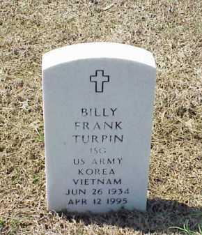 TURPIN (VETERAN 2 WARS), BILLY FRANK - Pulaski County, Arkansas | BILLY FRANK TURPIN (VETERAN 2 WARS) - Arkansas Gravestone Photos
