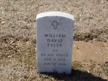 TYLER  (VETERAN), WILLIAM DAVID - Pulaski County, Arkansas | WILLIAM DAVID TYLER  (VETERAN) - Arkansas Gravestone Photos