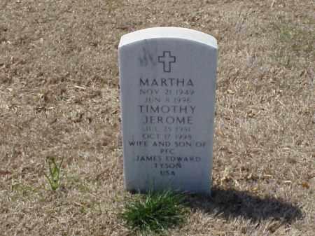 TYSON, MARTHA - Pulaski County, Arkansas | MARTHA TYSON - Arkansas Gravestone Photos