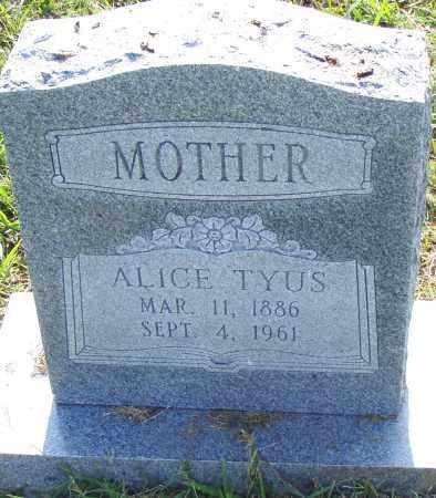 TYUSS, ALICE - Pulaski County, Arkansas | ALICE TYUSS - Arkansas Gravestone Photos