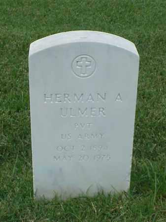 ULMER (VETERAN WWI), HERMAN A - Pulaski County, Arkansas | HERMAN A ULMER (VETERAN WWI) - Arkansas Gravestone Photos