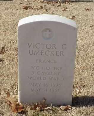 UMECKER (VETERAN WWI), VICTOR G - Pulaski County, Arkansas | VICTOR G UMECKER (VETERAN WWI) - Arkansas Gravestone Photos