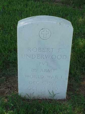 UNDERWOOD (VETERAN WWI), ROBERT E - Pulaski County, Arkansas | ROBERT E UNDERWOOD (VETERAN WWI) - Arkansas Gravestone Photos