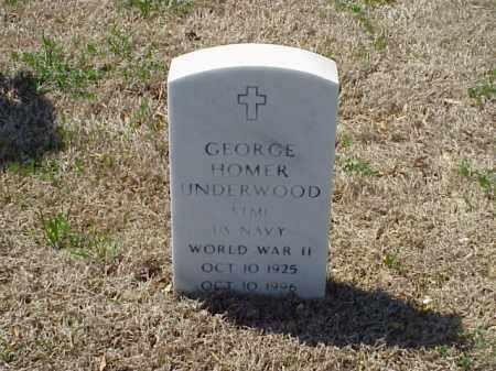 UNDERWOOD (VETERAN WWII), GEORGE HOMER - Pulaski County, Arkansas | GEORGE HOMER UNDERWOOD (VETERAN WWII) - Arkansas Gravestone Photos