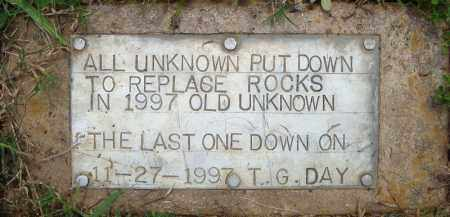 *UNKNOWN MARKERS STONE,  - Pulaski County, Arkansas    *UNKNOWN MARKERS STONE - Arkansas Gravestone Photos