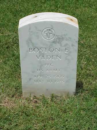 VADEN (VETERAN WWII), BOSTON E - Pulaski County, Arkansas | BOSTON E VADEN (VETERAN WWII) - Arkansas Gravestone Photos