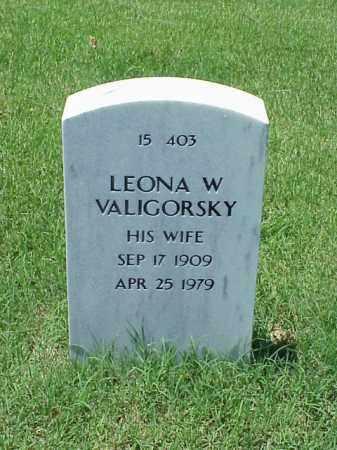 VALIGORSKY, LEONA W - Pulaski County, Arkansas   LEONA W VALIGORSKY - Arkansas Gravestone Photos