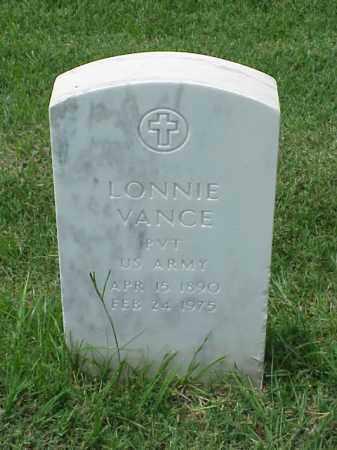 VANCE (VETERAN WWI), LONNIE - Pulaski County, Arkansas   LONNIE VANCE (VETERAN WWI) - Arkansas Gravestone Photos