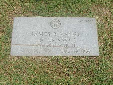 VANCE (VETERAN WWII), JAMES B - Pulaski County, Arkansas | JAMES B VANCE (VETERAN WWII) - Arkansas Gravestone Photos