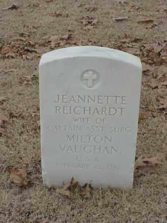 REICHARDT VAUGHAN, JEANNETTE - Pulaski County, Arkansas | JEANNETTE REICHARDT VAUGHAN - Arkansas Gravestone Photos