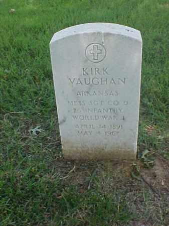 VAUGHAN (VETERAN WWI), KIRK - Pulaski County, Arkansas | KIRK VAUGHAN (VETERAN WWI) - Arkansas Gravestone Photos