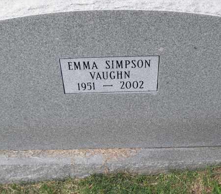 VAUGHN, EMMA - Pulaski County, Arkansas   EMMA VAUGHN - Arkansas Gravestone Photos