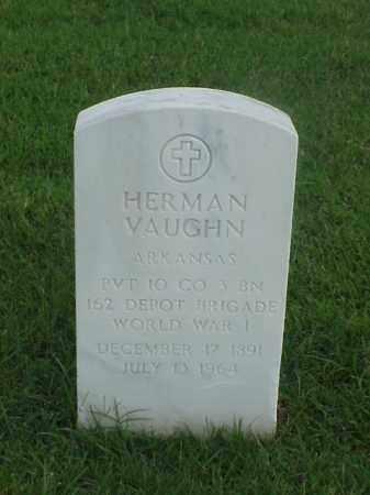 VAUGHN (VETERAN WWI), HERMAN - Pulaski County, Arkansas   HERMAN VAUGHN (VETERAN WWI) - Arkansas Gravestone Photos