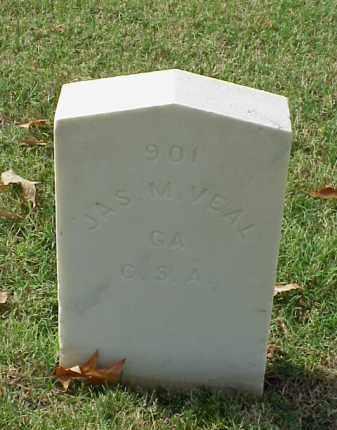 VEAL (VETERAN CSA), JAMES M - Pulaski County, Arkansas   JAMES M VEAL (VETERAN CSA) - Arkansas Gravestone Photos