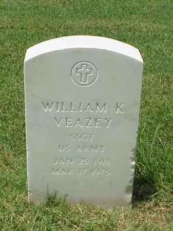 VEAZEY (VETERAN WWII), WILLIAM K - Pulaski County, Arkansas   WILLIAM K VEAZEY (VETERAN WWII) - Arkansas Gravestone Photos
