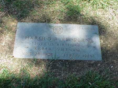 VEDDERN (VETERAN 2 WARS), HAROLD R - Pulaski County, Arkansas | HAROLD R VEDDERN (VETERAN 2 WARS) - Arkansas Gravestone Photos