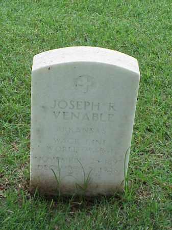 VENABLE (VETERAN WWI), JOSEPH R - Pulaski County, Arkansas | JOSEPH R VENABLE (VETERAN WWI) - Arkansas Gravestone Photos
