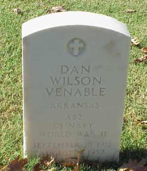 VENABLE (VETERAN WWII), DAN WILSON - Pulaski County, Arkansas   DAN WILSON VENABLE (VETERAN WWII) - Arkansas Gravestone Photos