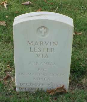 VIA (VETERAN KOR), MARVIN LESTER - Pulaski County, Arkansas   MARVIN LESTER VIA (VETERAN KOR) - Arkansas Gravestone Photos