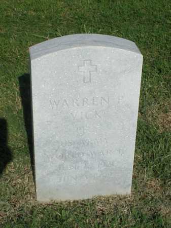 VICK (VETERAN WWII), WARREN P - Pulaski County, Arkansas | WARREN P VICK (VETERAN WWII) - Arkansas Gravestone Photos