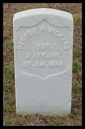 VICKERS (VETERAN SAW), GEORGE H - Pulaski County, Arkansas   GEORGE H VICKERS (VETERAN SAW) - Arkansas Gravestone Photos