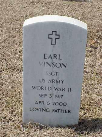 VINSON  (VETERAN WWII), EARL - Pulaski County, Arkansas | EARL VINSON  (VETERAN WWII) - Arkansas Gravestone Photos