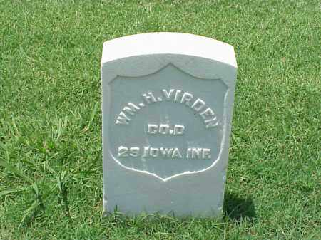 VIRDEN (VETERAN UNION), WILLIAM H - Pulaski County, Arkansas | WILLIAM H VIRDEN (VETERAN UNION) - Arkansas Gravestone Photos