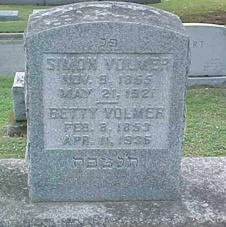 VOLMER, BETTY - Pulaski County, Arkansas | BETTY VOLMER - Arkansas Gravestone Photos