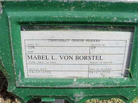 VONBORSTEL, MABEL L - Pulaski County, Arkansas | MABEL L VONBORSTEL - Arkansas Gravestone Photos