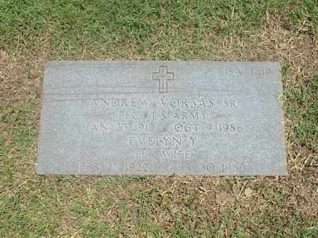 VORSAS, SR (VETERAN WWII), ANDREW - Pulaski County, Arkansas | ANDREW VORSAS, SR (VETERAN WWII) - Arkansas Gravestone Photos