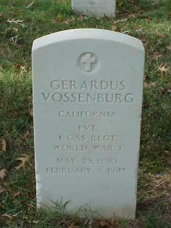 VOSSENBURG (VETERAN WWI), GERARDUS - Pulaski County, Arkansas | GERARDUS VOSSENBURG (VETERAN WWI) - Arkansas Gravestone Photos