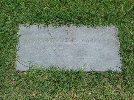 WADDY, SR (VETERAN WWII), SPURGEON JOHN - Pulaski County, Arkansas | SPURGEON JOHN WADDY, SR (VETERAN WWII) - Arkansas Gravestone Photos