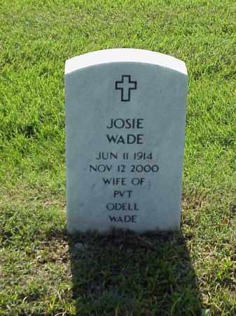 WADE, JOSIE - Pulaski County, Arkansas   JOSIE WADE - Arkansas Gravestone Photos