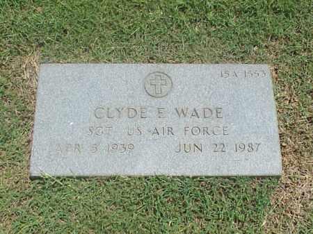 WADE (VETERAN), CLYDE E - Pulaski County, Arkansas   CLYDE E WADE (VETERAN) - Arkansas Gravestone Photos