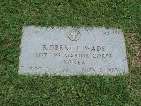 WADE (VETERAN KOR), ROBERT L - Pulaski County, Arkansas | ROBERT L WADE (VETERAN KOR) - Arkansas Gravestone Photos