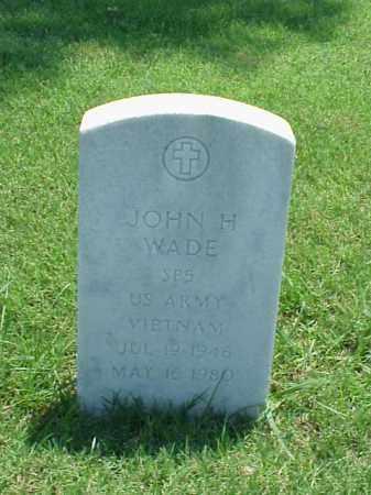 WADE (VETERAN VIET), JOHN H - Pulaski County, Arkansas   JOHN H WADE (VETERAN VIET) - Arkansas Gravestone Photos