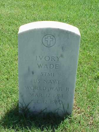 WADE (VETERAN WWII), IVORY - Pulaski County, Arkansas | IVORY WADE (VETERAN WWII) - Arkansas Gravestone Photos
