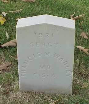 WADLEY (VETERAN CSA), FRANCIS M - Pulaski County, Arkansas | FRANCIS M WADLEY (VETERAN CSA) - Arkansas Gravestone Photos