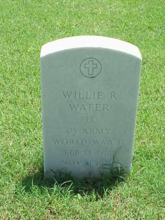 WAFER (VETERAN WWII), WILLIE R - Pulaski County, Arkansas | WILLIE R WAFER (VETERAN WWII) - Arkansas Gravestone Photos