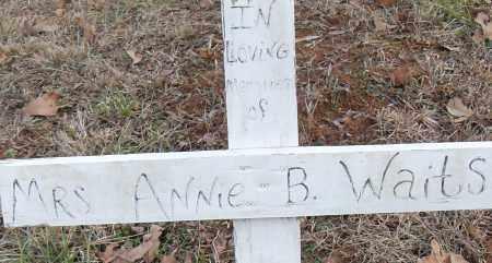 WAITS MRS, ANNIE B - Pulaski County, Arkansas   ANNIE B WAITS MRS - Arkansas Gravestone Photos