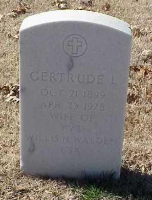 WALDEN, GERTRUDE L. - Pulaski County, Arkansas | GERTRUDE L. WALDEN - Arkansas Gravestone Photos