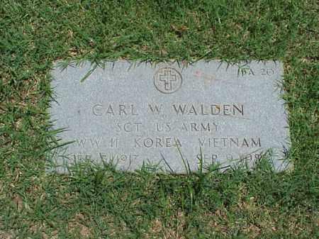 WALDEN (VETERAN 3 WARS), CARL W - Pulaski County, Arkansas   CARL W WALDEN (VETERAN 3 WARS) - Arkansas Gravestone Photos