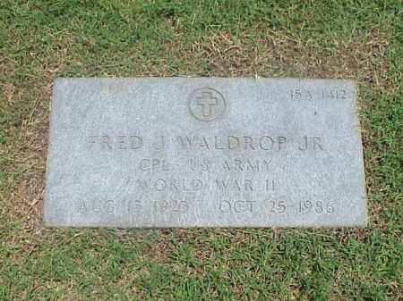 WALDROP, JR (VETERAN WWII), FRED J - Pulaski County, Arkansas | FRED J WALDROP, JR (VETERAN WWII) - Arkansas Gravestone Photos