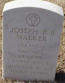 WALKER  (VETERAN WWI), JOSEPH P B - Pulaski County, Arkansas   JOSEPH P B WALKER  (VETERAN WWI) - Arkansas Gravestone Photos
