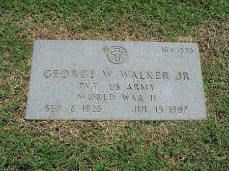 WALKER, JR (VETERAN WWII), GEORGE W - Pulaski County, Arkansas | GEORGE W WALKER, JR (VETERAN WWII) - Arkansas Gravestone Photos