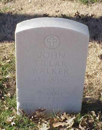 WALKER (VETERAN KOR), JOHN TILLAR - Pulaski County, Arkansas   JOHN TILLAR WALKER (VETERAN KOR) - Arkansas Gravestone Photos