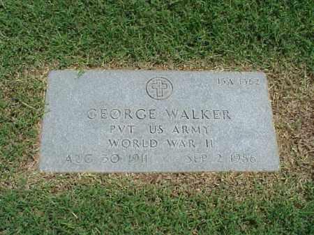 WALKER (VETERAN WWII), GEORGE - Pulaski County, Arkansas | GEORGE WALKER (VETERAN WWII) - Arkansas Gravestone Photos