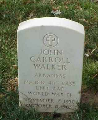 WALKER (VETERAN WWII), JOHN CARROLL - Pulaski County, Arkansas | JOHN CARROLL WALKER (VETERAN WWII) - Arkansas Gravestone Photos