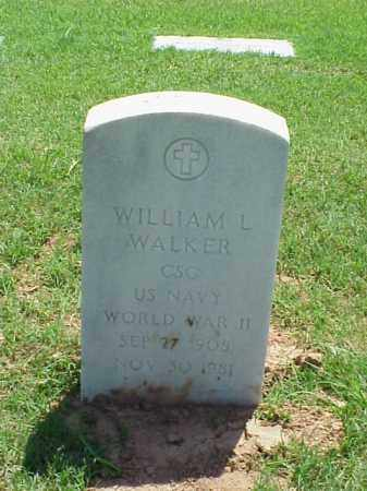 WALKER (VETERAN WWII), WILLIAM L - Pulaski County, Arkansas | WILLIAM L WALKER (VETERAN WWII) - Arkansas Gravestone Photos
